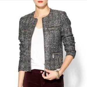 MICHAEL Michael Kors Boucle Tweed Zipper Jacket